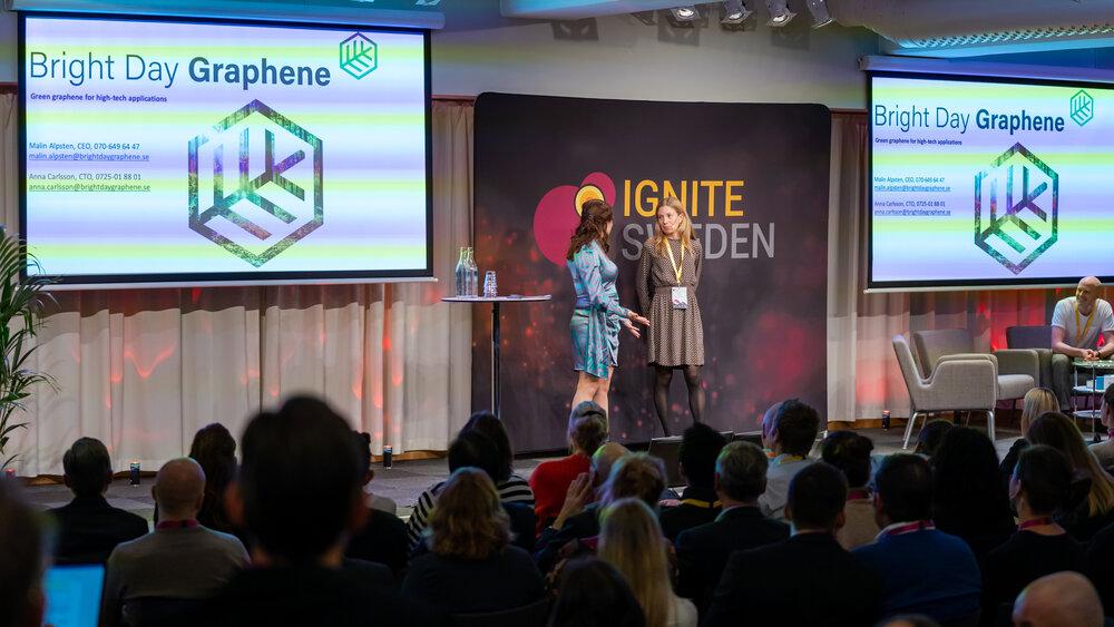 Malin Alpsten speaking about Bright Day Graphene at Ignite Sweden Day 2019.