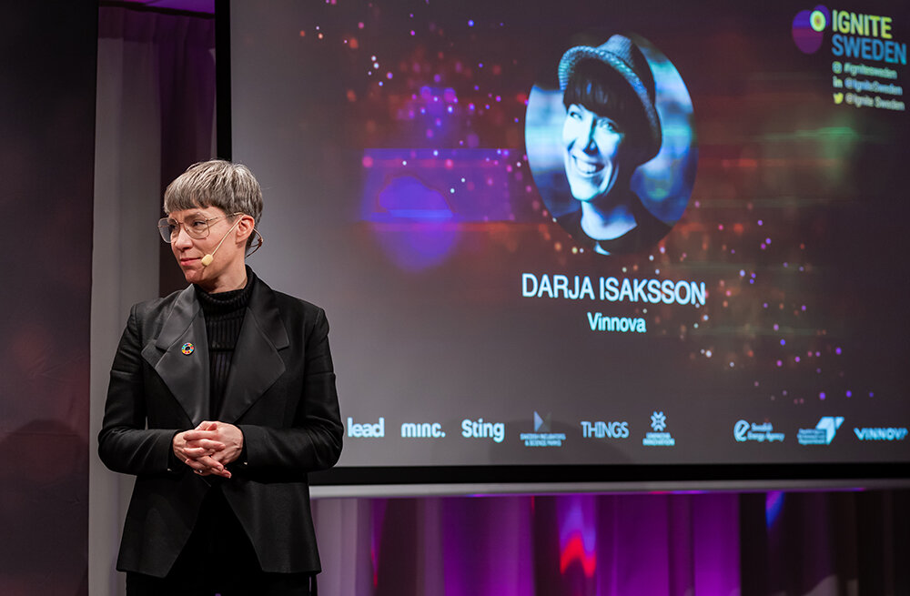 """""""We hope that this event attracts new talent to Sweden and creates new international innovation collaborations within AI"""", says Darja Isaksson, Director General at Vinnova."""
