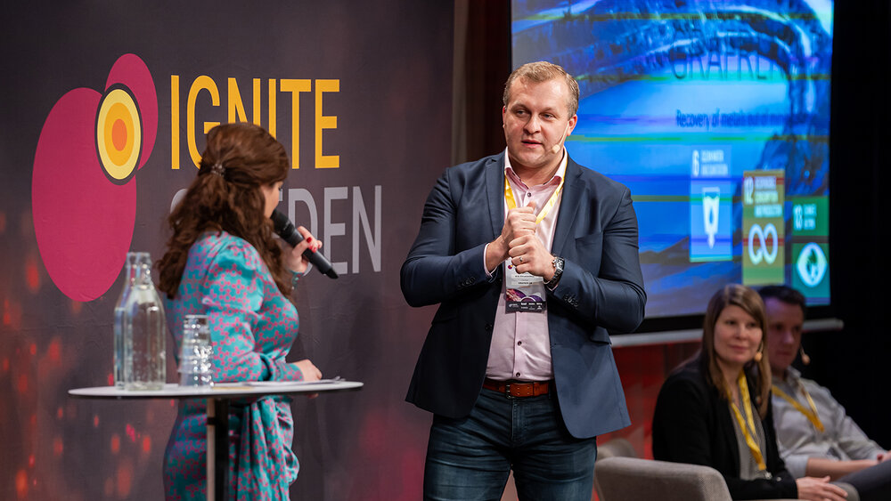 Erik Khranovskyy talks about Grafren at Ignite Sweden Day 2019.