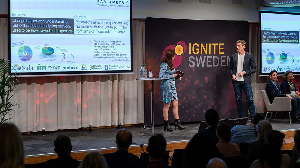 Parlametric co-founder Johan Källstrand at Ignite Sweden Day 2019