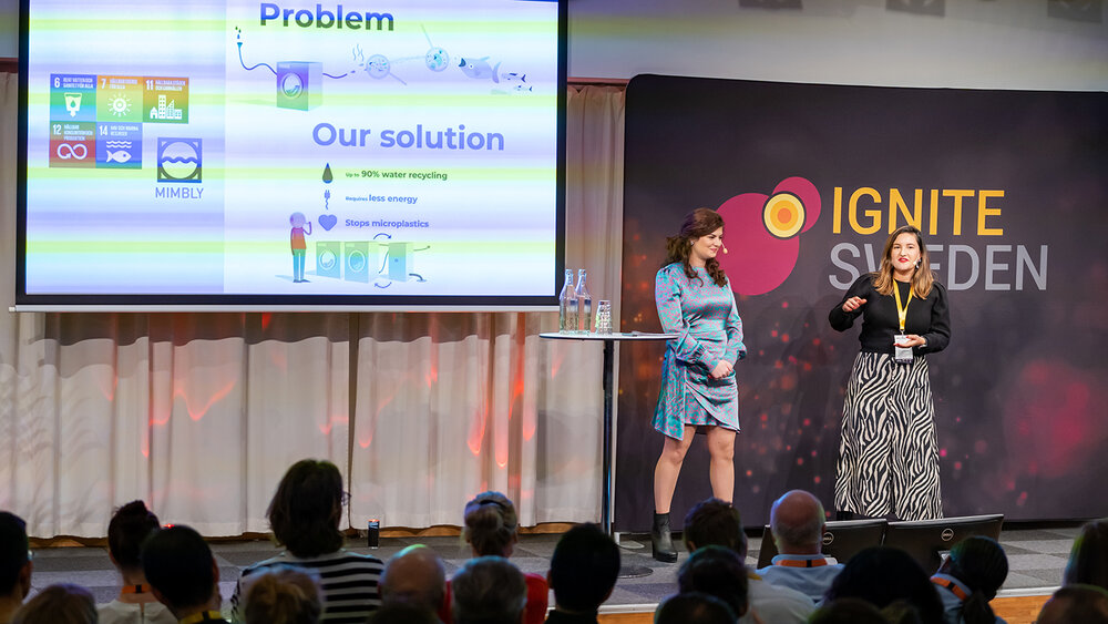 Isabella Palmgren talks about Mimbly at Ignite Sweden Day 2019.