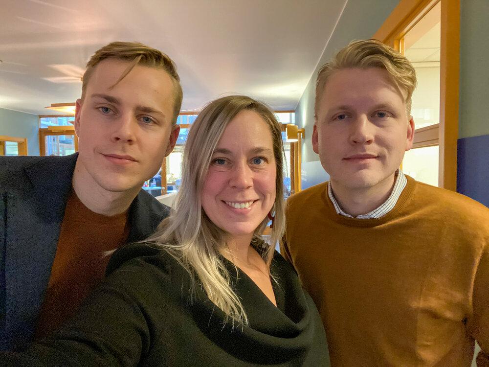 Petter Kvist, Ulrica Martinsdotter and Erik Vallgårda from Sally R