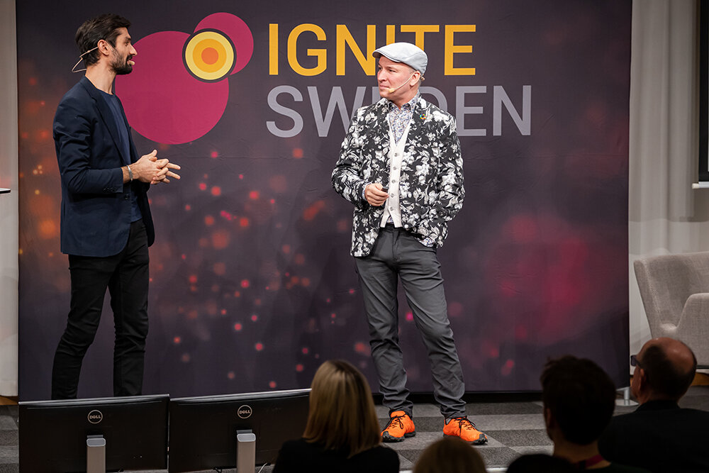 Sasan Shaba (Energimyndigheten) & Dennis Pamlin (RISE) at Ignite Sweden Day 2019.