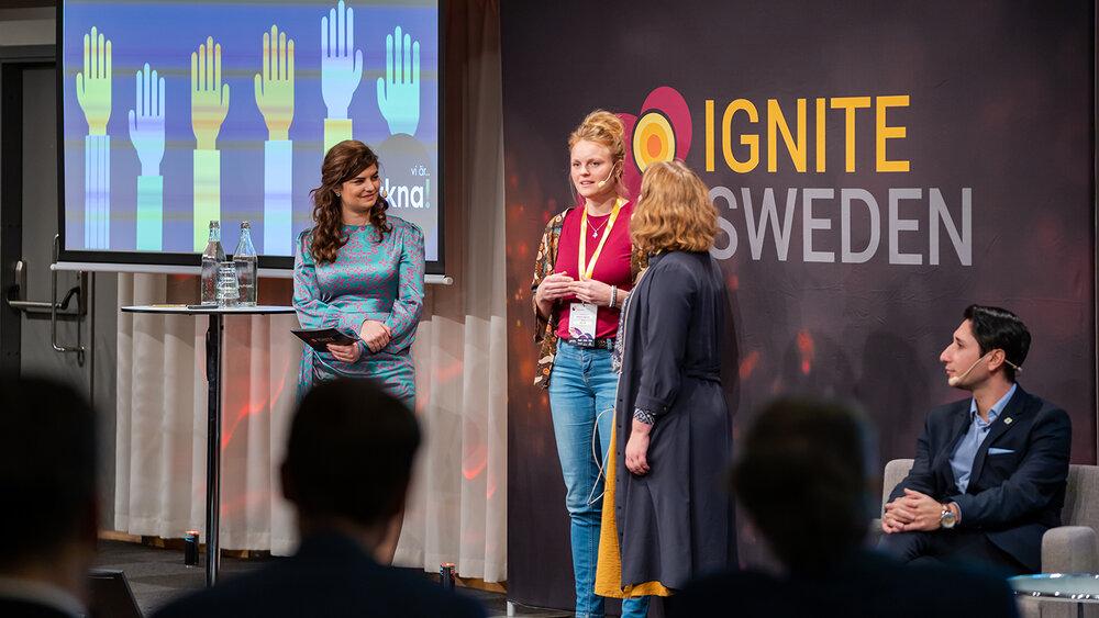Vkna co-founders Johanna Engström & Emma Möller at Ignite Sweden Day 2019.