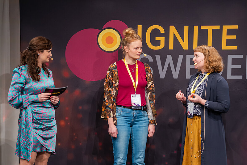 Vkna's founders Johanna Engström and Emma Möller pitched the company on Ignite Sweden Day in December.