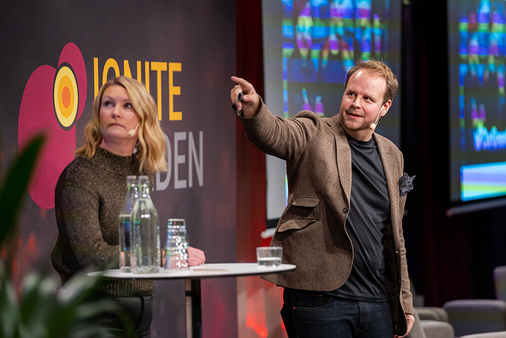 Kenneth Falk presented OurGreenCar's collaboration with E.ON on Ignite Sweden Day.